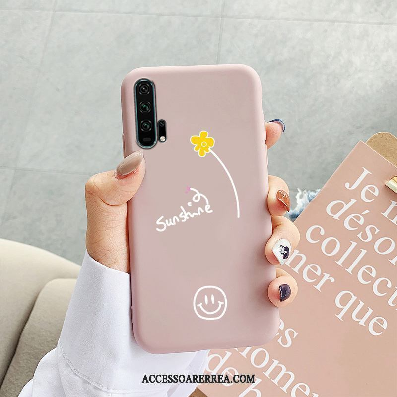 Honor 20 Pro Skal Purpur Nubuck Mjuk Mobil Telefon All Inclusive