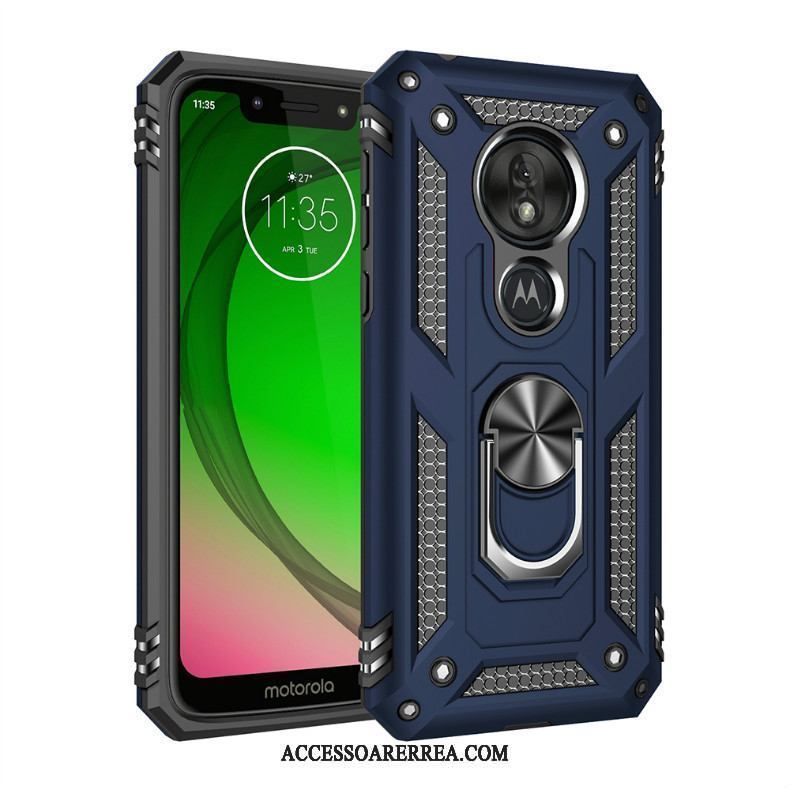 Moto G7 Power Skal All Inclusive Blå Mobil Telefon Magnetic Skydd