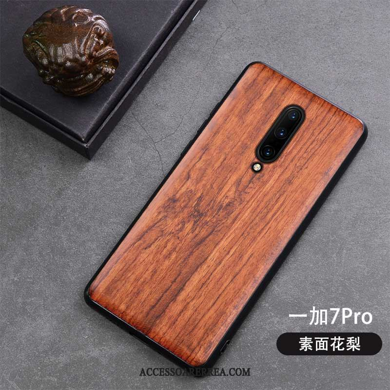 Oneplus 7 Pro Skal All Inclusive Retro Skydd Fallskydd Wood