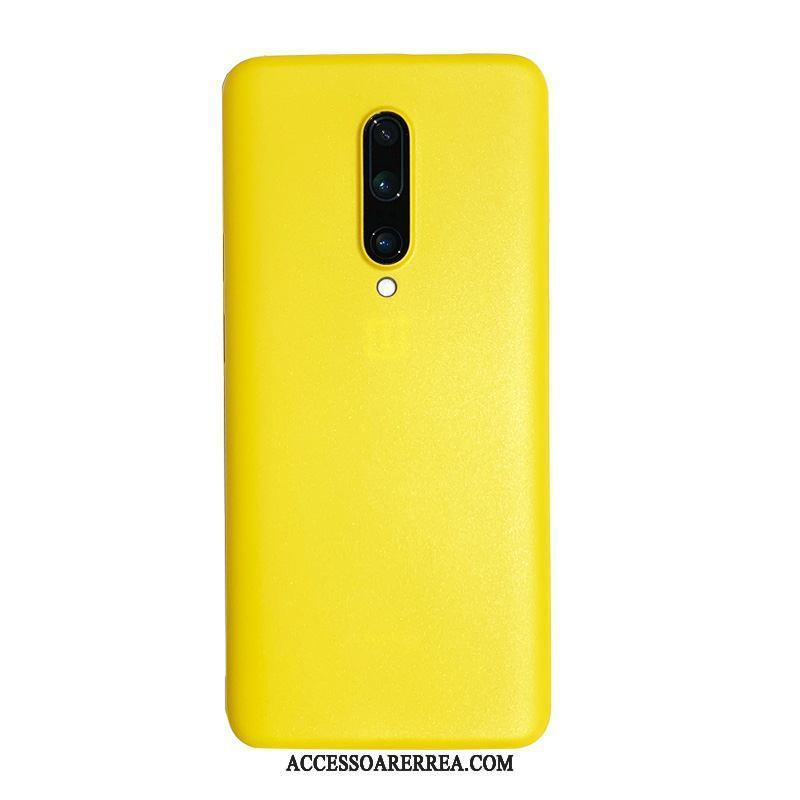 Oneplus 7 Skal Gul Nubuck Fallskydd Transparent All Inclusive