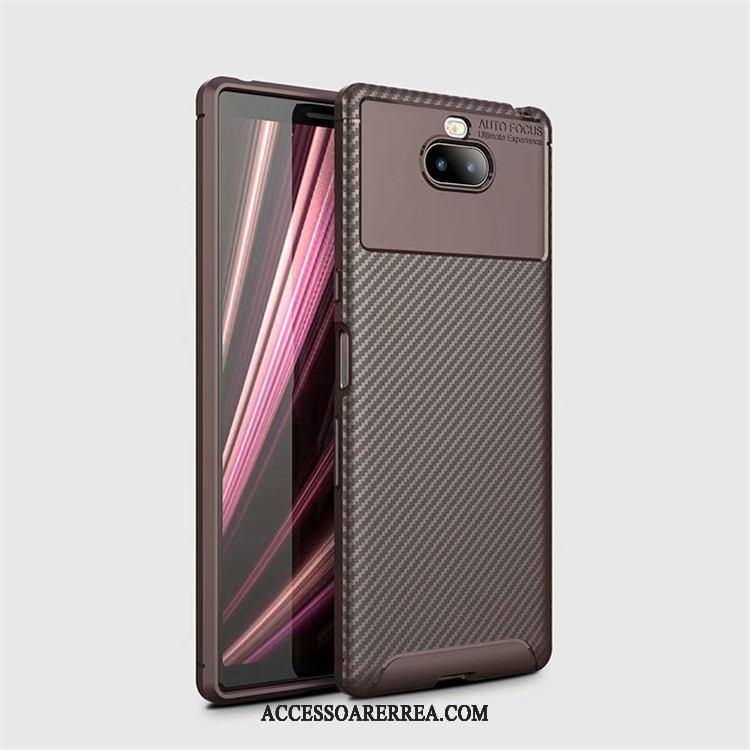 Sony Xperia 10 Plus Skal All Inclusive Mönster Kostfiber Ny Nubuck