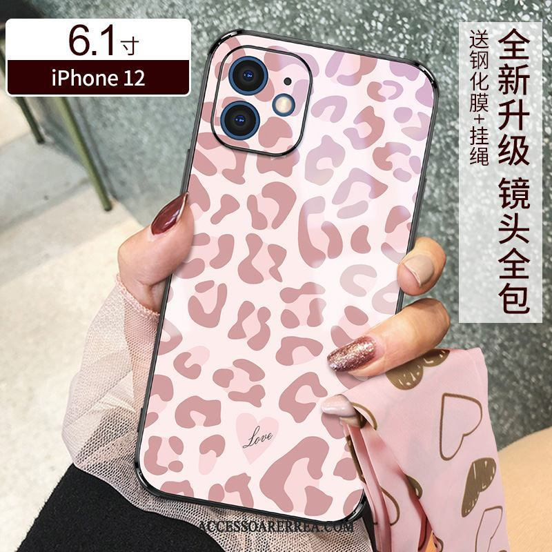 iPhone 12 Skal Rosa Leopard Ny Slim All Inclusive